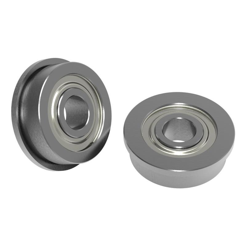4mm ID x 12mm OD Flanged Ball Bearing (2 pack)