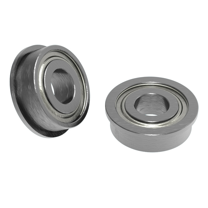 5mm ID x 12mm OD Flanged Ball Bearing (2 pack)