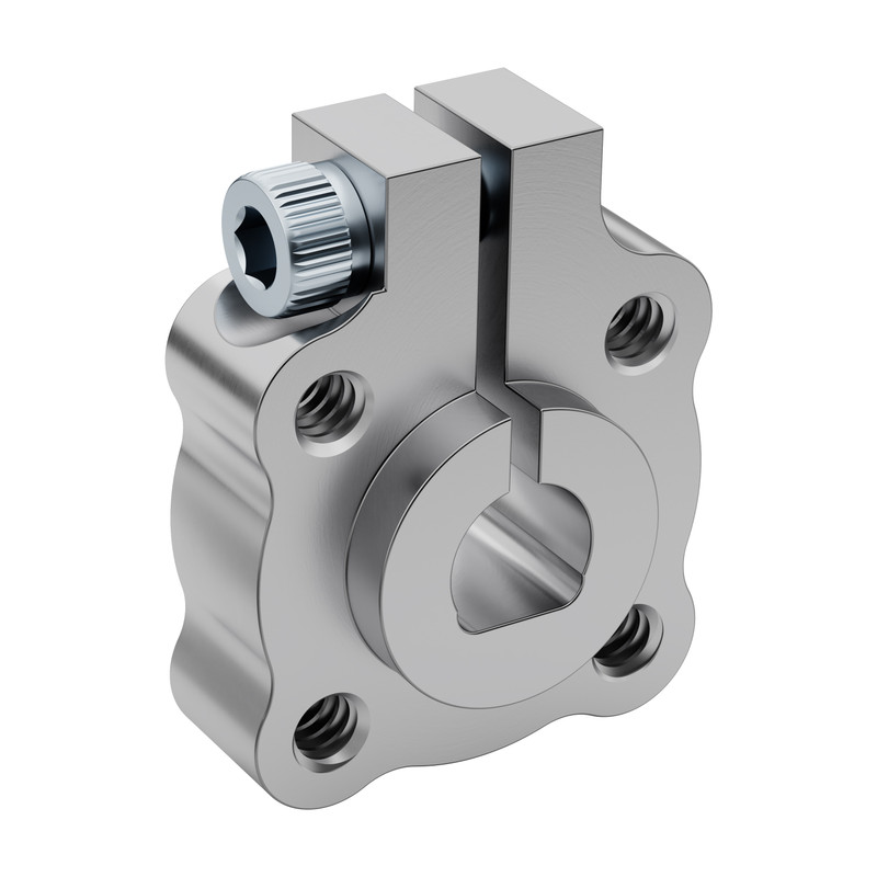"0.250"" Bore Clamping D-Hub (Tapped), 0.770"" Pattern"