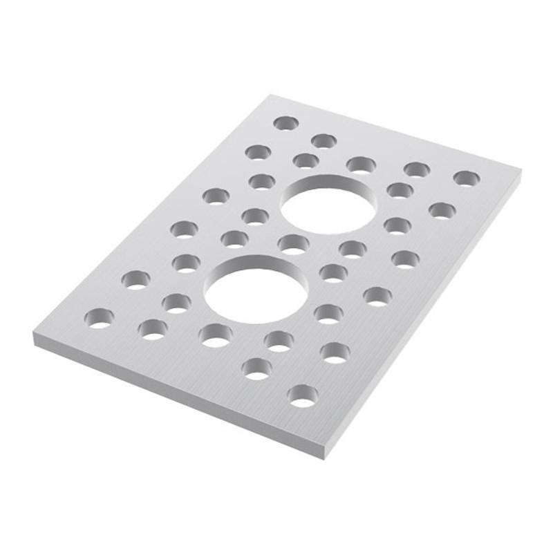 """2 Hole Pattern Plate (1.50"""" x 2.25"""")"""