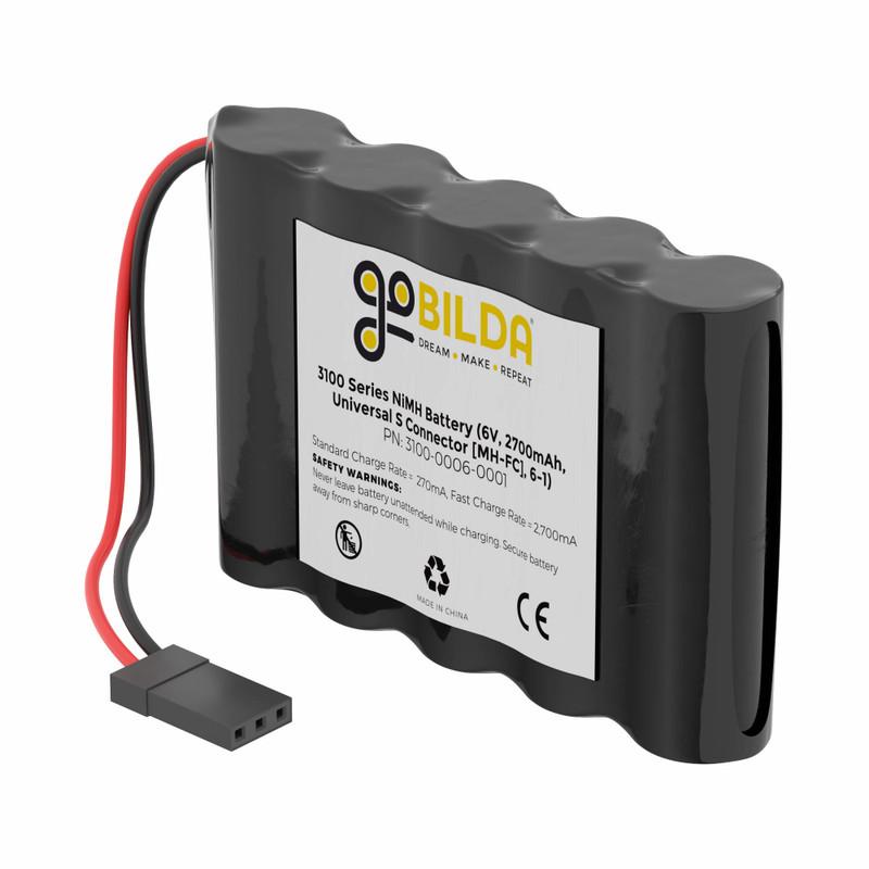 NiMH Battery (6V, 2700mAh, 2-Pos TJC8 Power Connector [MH-FC], 6-1)