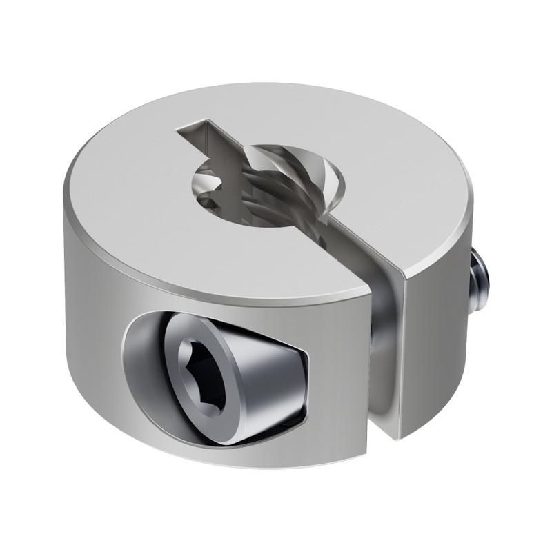 3504 Series Lead Screw Clamping Collar (6mm Lead, 6 Start, 16mm OD, 8mm Length)