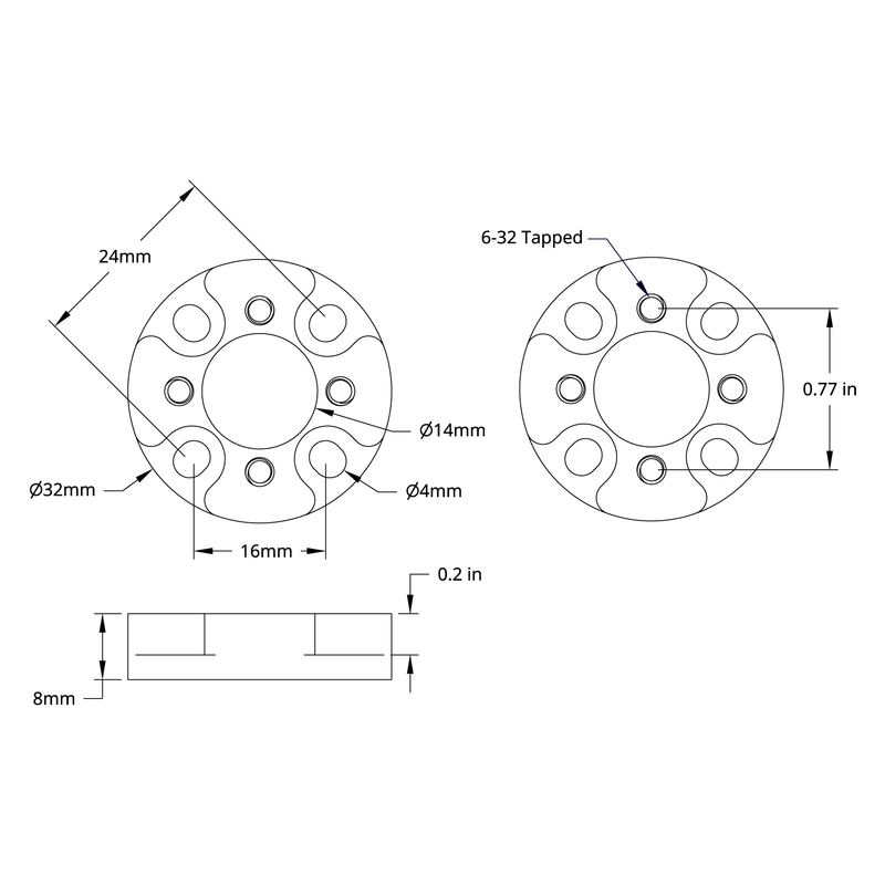 1206 Series Pattern Adaptor (16-1)