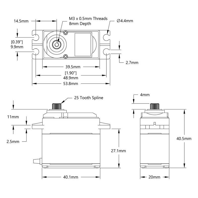 HSR-M9382TH Servo Schematic