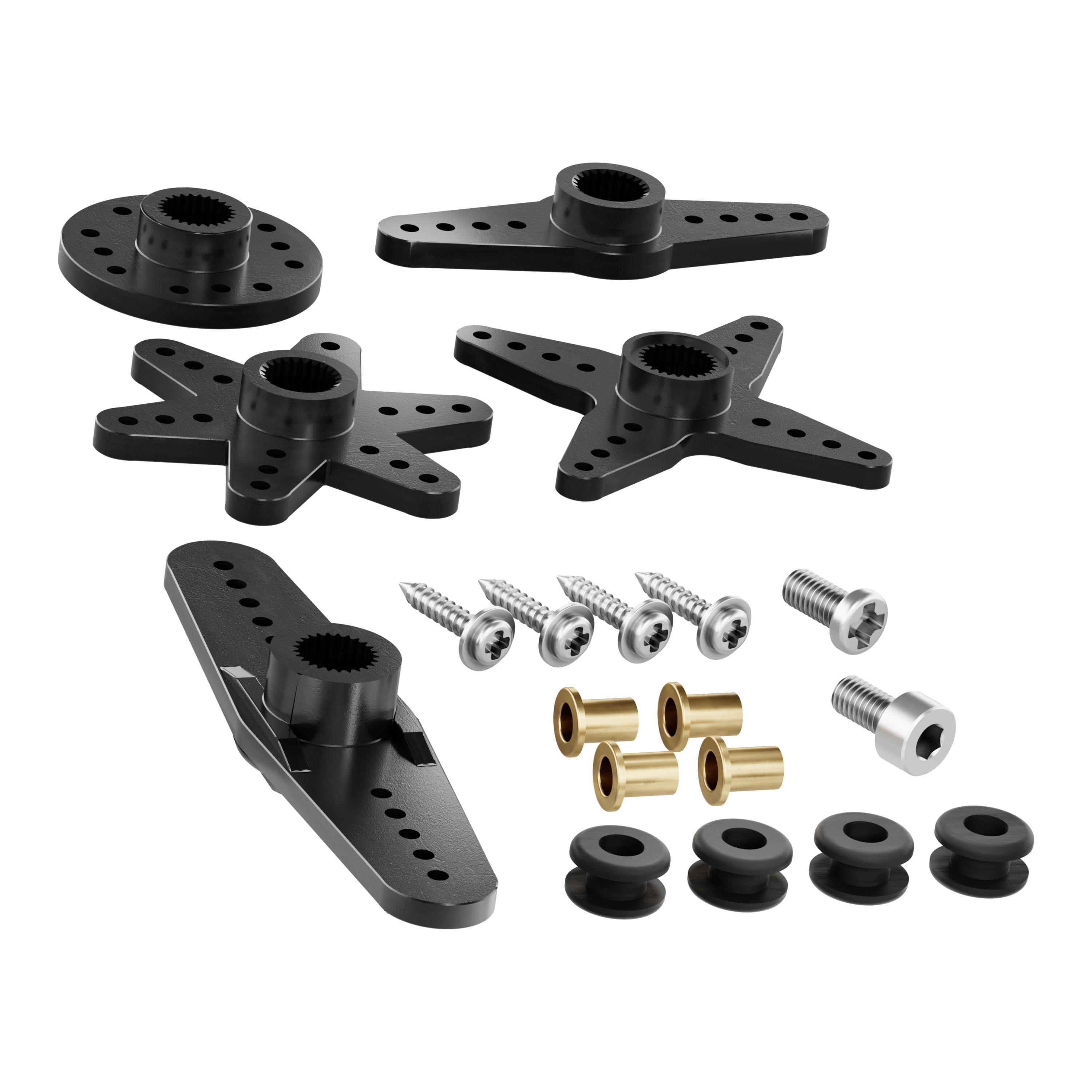 H25T Spline Servo Hardware Pack (25-1)