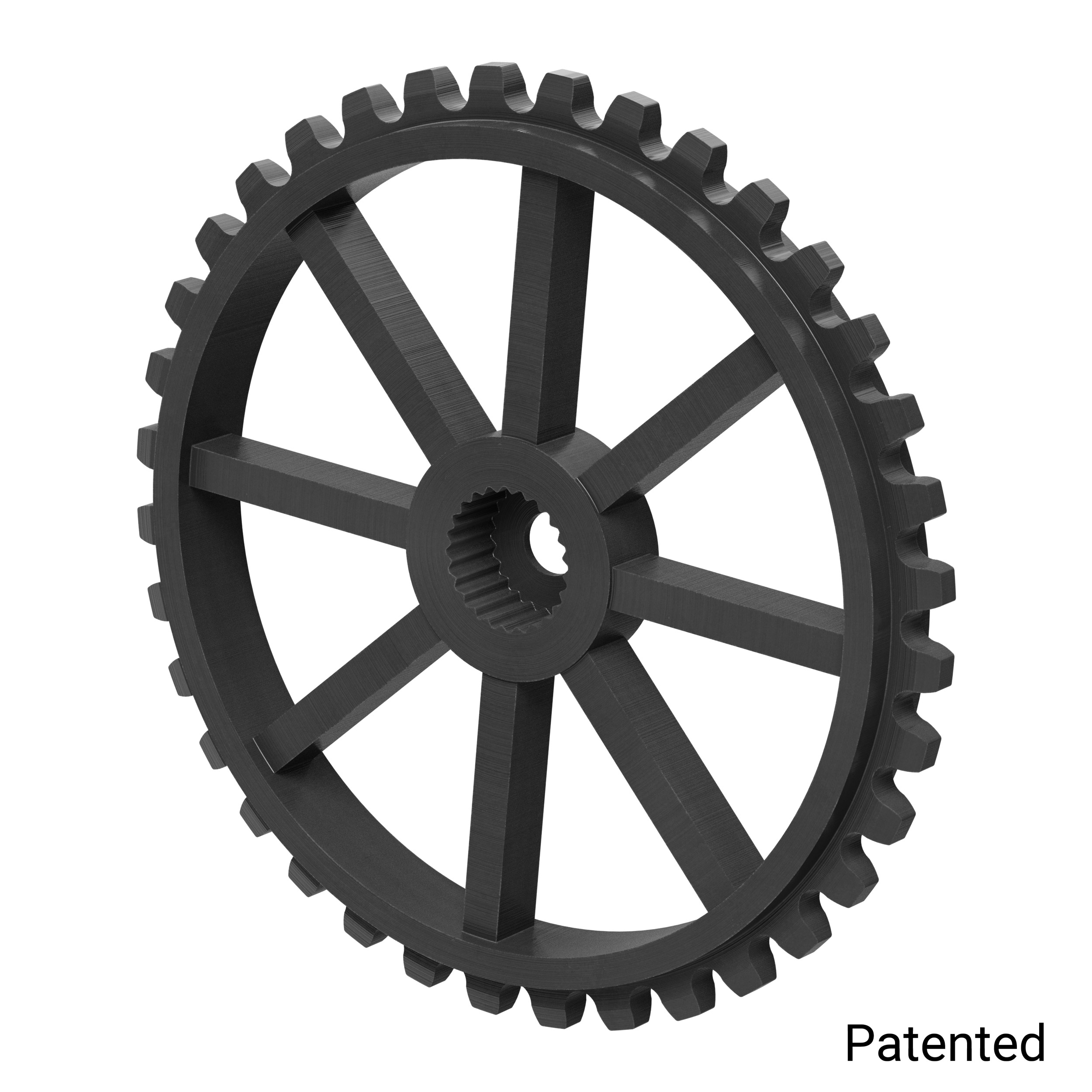 "0.1227"" Pitch, 36 Tooth Nylon Servo Sprocket with 24 Tooth Spline"