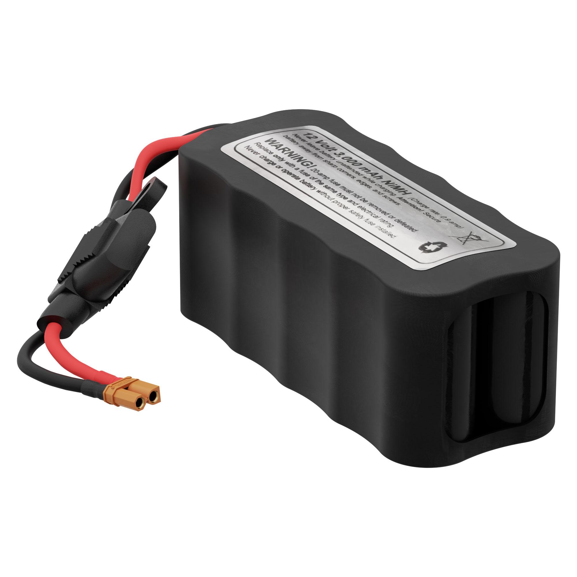 12V 3000mAh NiMH Square Pack Battery (Sub-C Cells)