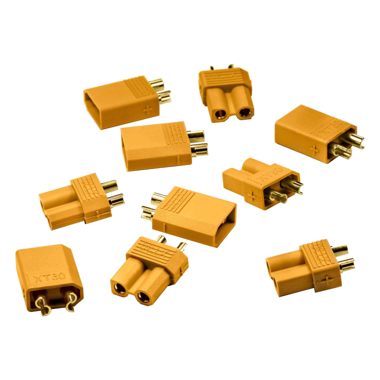 Male XT30 & Female XT30 Connectors (5-Pair)