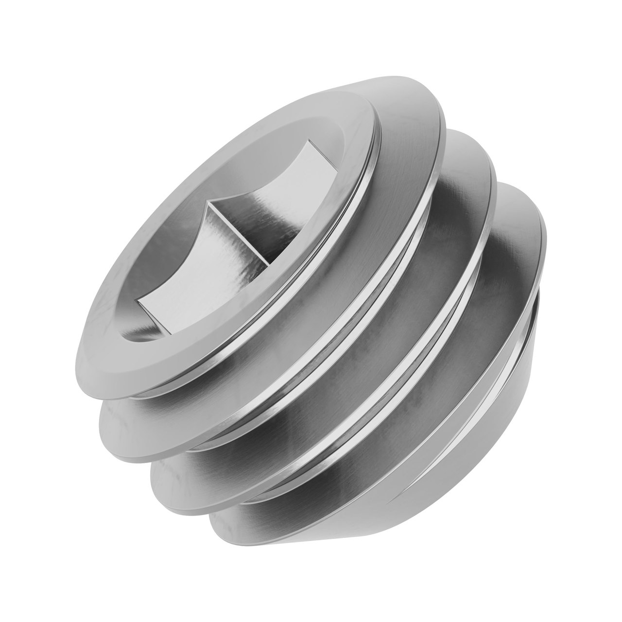 """10-32 Stainless Steel Cup-Point Set-Screw (0.125"""" Length) - 6 Pack"""