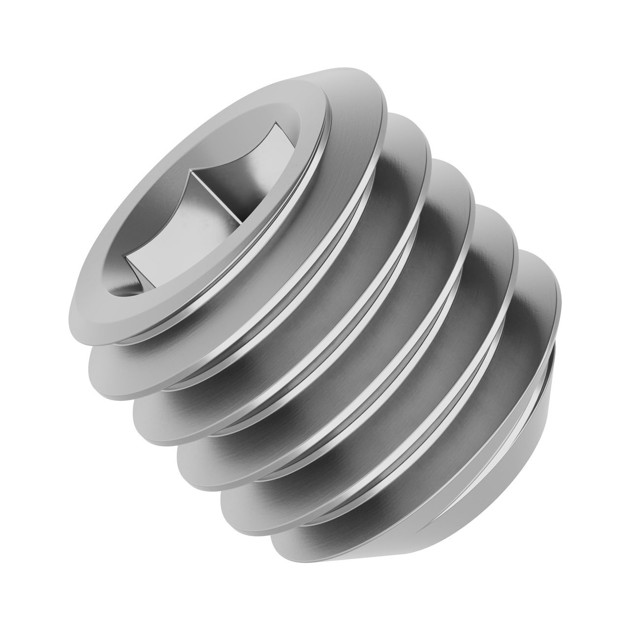"""10-32 Stainless Steel Cup-Point Set-Screw (0.1875"""" Length) - 6 Pack"""
