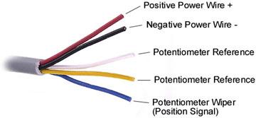 Actuator Potentiometer Wire Schematic