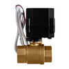 "3/4"" Brass Electric Ball Valve - 2 Wire Auto Return"