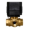 "1/2"" Brass 3 Way Electric Ball Valve - 3 Wire"