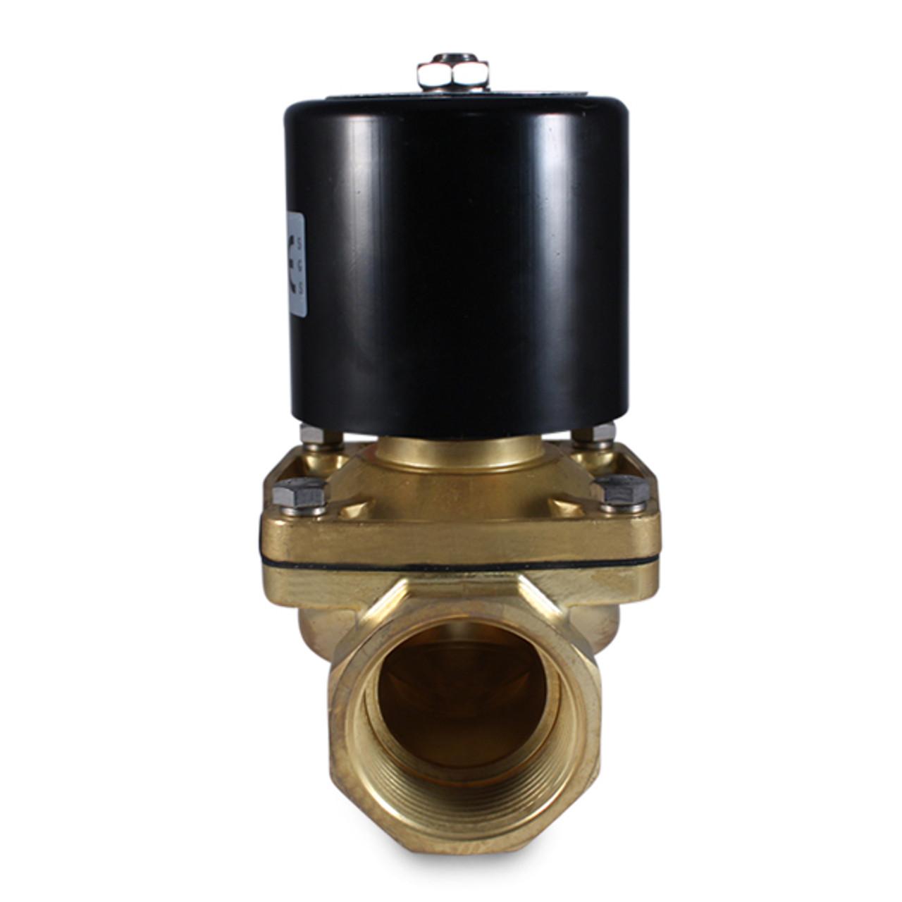 1-1//4 N.C Diesel Fuel 110V AC Electric Brass Solenoid Valve for Water Gas Air