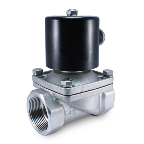 """1-1/2"""" 110V AC Stainless Electric Solenoid Valve"""