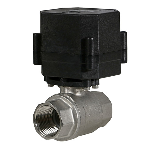 """3/4"""" Stainless Electric Ball Valve - 2 Wire Auto Return"""