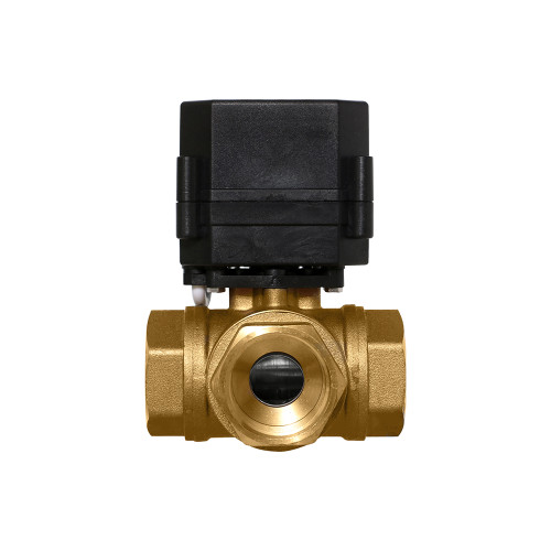"1"" Brass 3 Way Electric Ball Valve - 3 Wire"