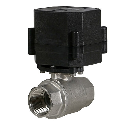 "3/4"" Stainless Steel Electric Ball Valve - 3 Wire"