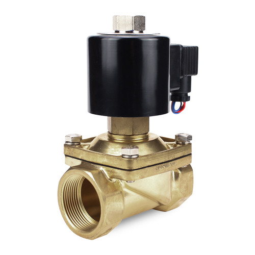 1-1/2'' Inch 220 Volt AC Electric Normally Open Brass Solenoid Valve