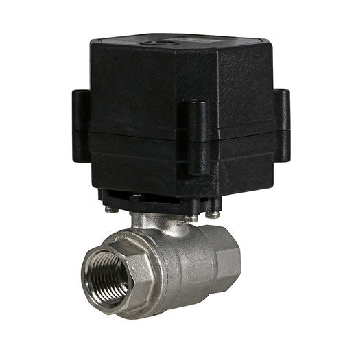 """1/2"""" Stainless Electric Ball Valve - 2 Wire Auto Return"""