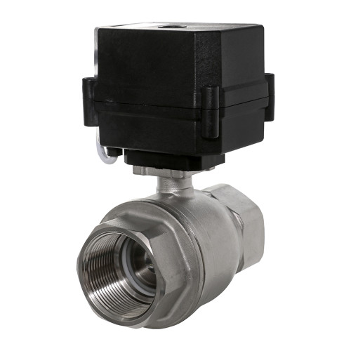 "1-1/2"" Stainless Electric Ball Valve - 2 Wire Auto Return"