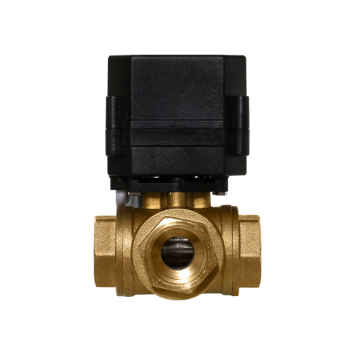 "3/4"" Brass 3 Way Electric Ball Valve - 3 Wire"