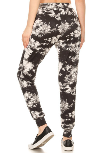 Wholesale - Buttery Soft Black and White Tie Dye Joggers