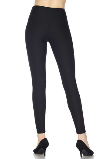 Wholesale - Silky Smooth Black Scuba High Waisted Leggings - 5 Inch