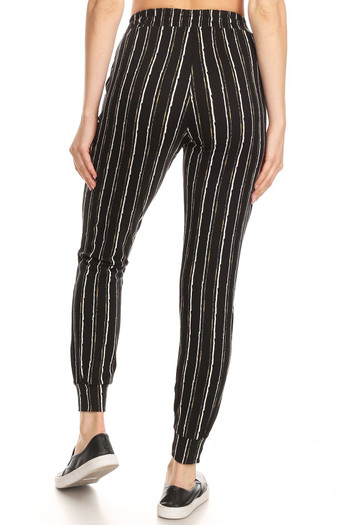 Wholesale - Buttery Soft Vertical Artistic Stripe Joggers