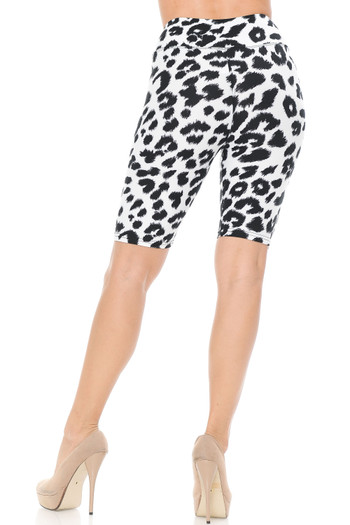Wholesale - Buttery Soft Ivory Spotted Leopard Shorts - 3 Inch Waist Band