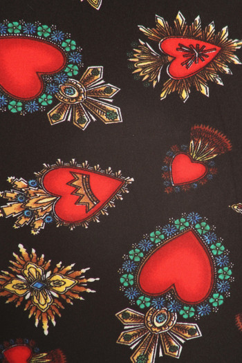 Wholesale - Buttery Soft Jeweled Hearts Kid's Leggings
