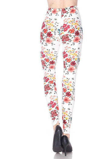 Wholesale - Buttery Soft Fresh Spring Floral Leggings - Plus Size