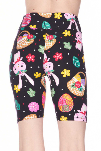 Wholesale - Buttery Soft Cute Bunnies and Easter Egg Plus Size Shorts - 3 Inch