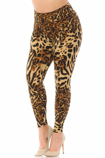 Wholesale - Buttery Soft Predator Leopard High Waisted Leggings - Plus Size