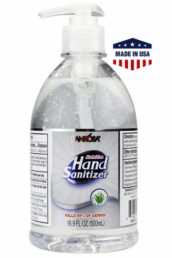 Wholesale - 6 Pack - 500ml Panrosa Alcohol Free Hand Sanitizer with Aloe - Made in the USA