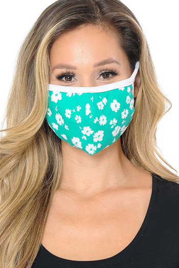 Wholesale - Women's Dainty Floral Face Mask - Made in USA