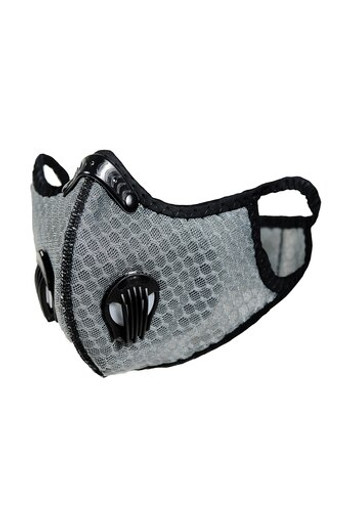Wholesale - Light Grey Dual Valve Mesh Sport Face Mask with PM2.5 Filter