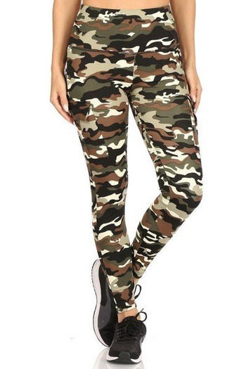 Wholesale - Camouflage Sport Leggings with Cargo Pocket
