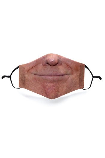 Wholesale - Smiling Trump Graphic Print Face Mask