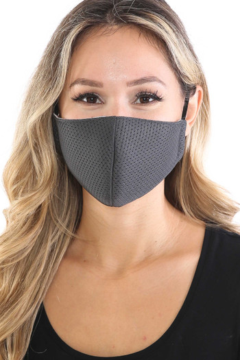 Wholesale - Breath Easy Perforated Mesh Face Mask with PM2.5 Rear Pocket