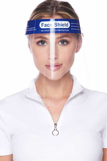 Wholesale - Protective Face Shields - Anti Splash Film with Elastic Band and Comfort Sponge