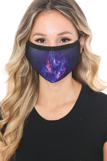 Wholesale - Mystic Galaxy Graphic Print Face Mask