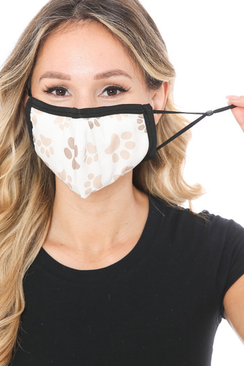Wholesale - Pretty Paws Graphic Print Face Mask
