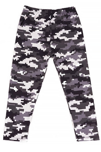 Wholesale - Buttery Soft Pixel Black and White Camouflage Kids Leggings