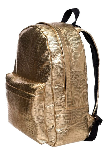 Wholesale - Gold Crocodile Faux Leather Backpack