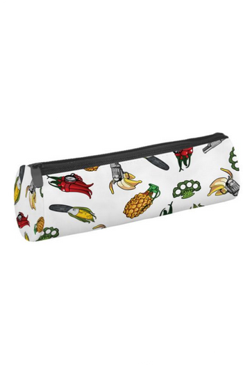 Cylinder Graphic Print Multi Use Cosmetics Case  - 3 Styles