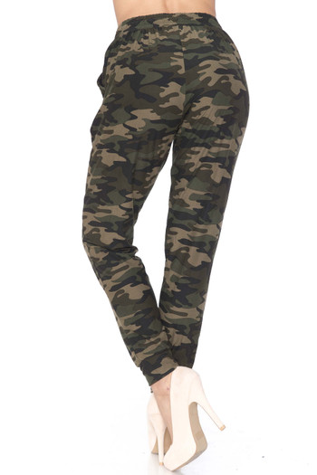 Wholesale - Buttery Soft Green Camouflage Joggers - New Mix