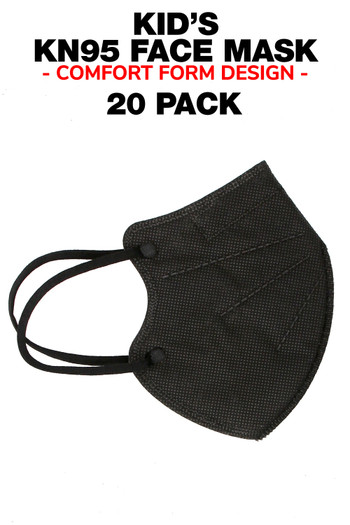 20 Pack Kid's KN95 Face Mask - Comfort Form Fit - Individually Sealed
