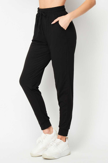 Buttery Soft Basic Solid Plus Size Joggers - New Mix
