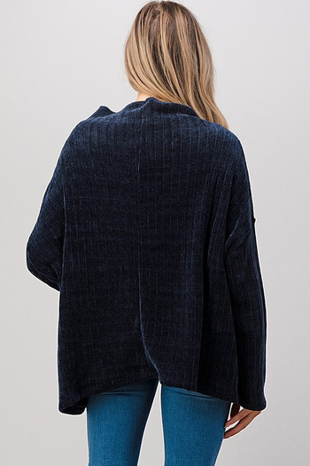 Wholesale - Oversized Chenille Cowl Neck Sweater